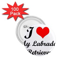 I Love My Labrador Retriever 1.75  Button (100 pack)