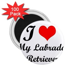 I Love My Labrador Retriever 2 25  Magnet (100 Pack)