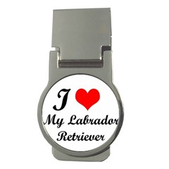I Love My Labrador Retriever Money Clip (round)
