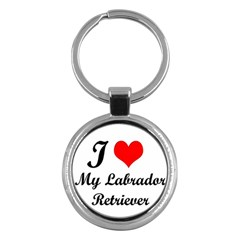 I Love My Labrador Retriever Key Chain (round)