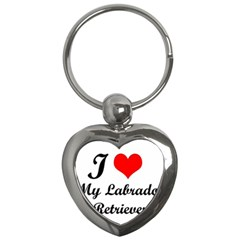 I Love My Labrador Retriever Key Chain (Heart)