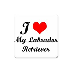 I Love My Labrador Retriever Magnet (Square)