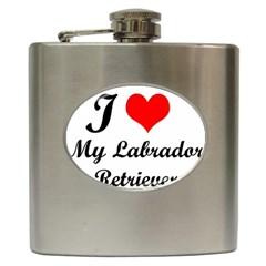 I Love My Labrador Retriever Hip Flask (6 Oz)