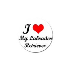 I Love My Labrador Retriever Golf Ball Marker (10 Pack)