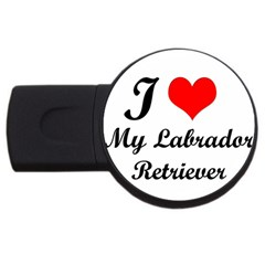 I Love My Labrador Retriever Usb Flash Drive Round (2 Gb)