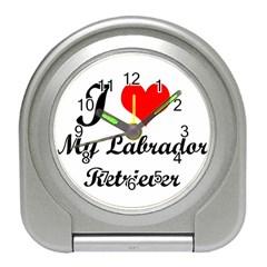 I Love My Labrador Retriever Travel Alarm Clock