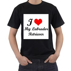I Love My Labrador Retriever Black T-Shirt (Two Sides)