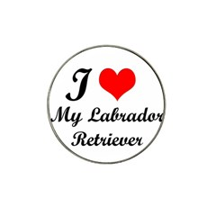 I Love My Labrador Retriever Hat Clip Ball Marker (4 Pack)