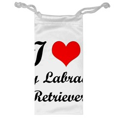I Love My Labrador Retriever Jewelry Bag