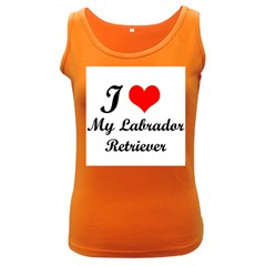 I Love My Labrador Retriever Women s Dark Tank Top