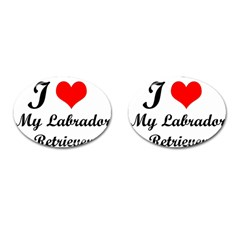 I Love My Labrador Retriever Cufflinks (Oval)