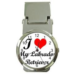 I Love My Labrador Retriever Money Clip Watch