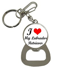 I Love My Labrador Retriever Bottle Opener Key Chain