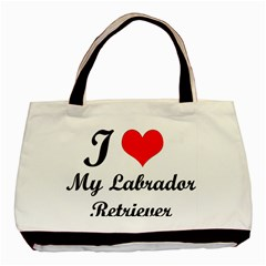 I Love My Labrador Retriever Classic Tote Bag (Two Sides)