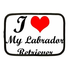 I Love My Labrador Retriever Netbook Case (medium)