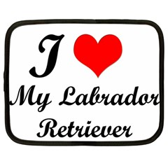 I Love My Labrador Retriever Netbook Case (large)