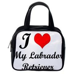 I Love My Labrador Retriever Classic Handbag (one Side)