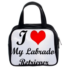 I Love My Labrador Retriever Classic Handbag (two Sides)
