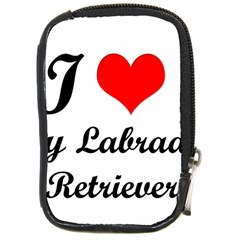 I Love My Labrador Retriever Compact Camera Leather Case