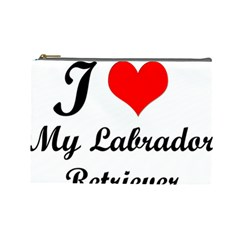 I Love My Labrador Retriever Cosmetic Bag (Large)