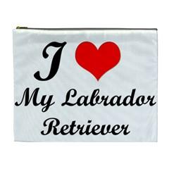 I Love My Labrador Retriever Cosmetic Bag (XL)