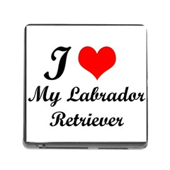 I Love My Labrador Retriever Memory Card Reader with Storage (Square)