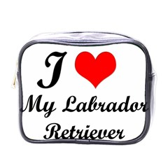 I Love My Labrador Retriever Mini Toiletries Bag (One Side)