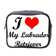 I Love My Labrador Retriever Mini Toiletries Bag (Two Sides)