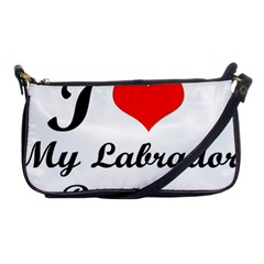 I Love My Labrador Retriever Shoulder Clutch Bag