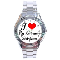 I Love My Labrador Retriever Stainless Steel Analogue Men's Watch