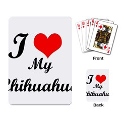 I Love My Chihuahua Playing Cards Single Design