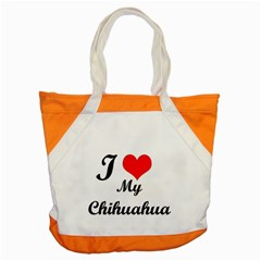 I Love My Chihuahua Accent Tote Bag