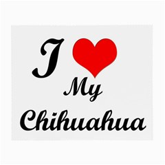 I Love My Chihuahua Glasses Cloth (Small, Two Sides)