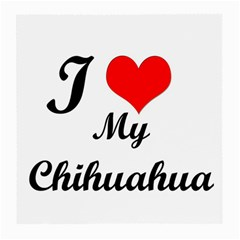 I Love My Chihuahua Glasses Cloth (medium, Two Sides)