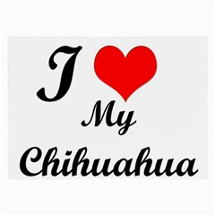 I Love My Chihuahua Glasses Cloth (large, Two Sides)