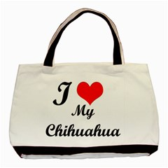 I Love My Chihuahua Classic Tote Bag (Two Sides)