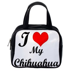 I Love My Chihuahua Classic Handbag (One Side)