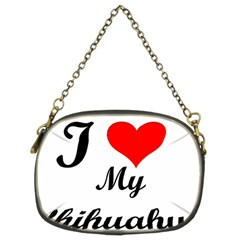 I Love My Chihuahua Chain Purse (two Sides)