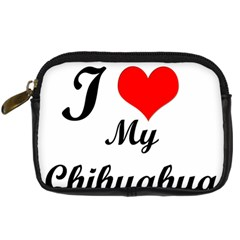 I Love My Chihuahua Digital Camera Leather Case