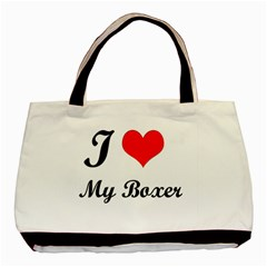 I Love My Boxer Classic Tote Bag