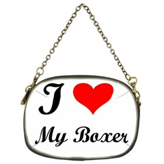 I Love My Boxer Chain Purse (Two Sides)