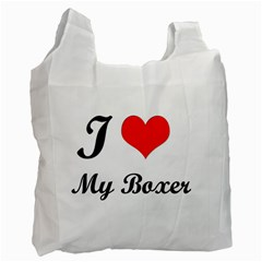 I Love My Boxer Recycle Bag (One Side)