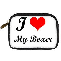 I Love My Boxer Digital Camera Leather Case