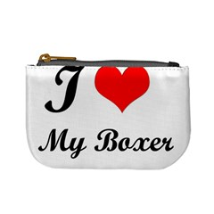 I Love My Boxer Mini Coin Purse