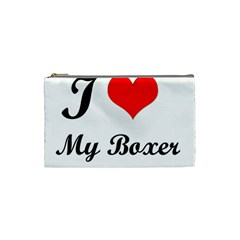 I Love My Boxer Cosmetic Bag (small)