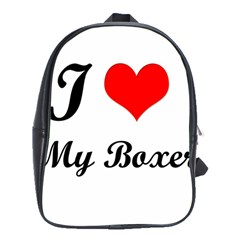 I Love My Boxer School Bag (Large)