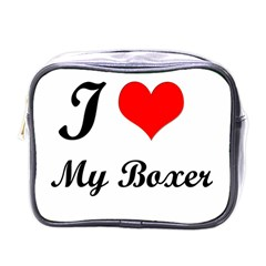 I Love My Boxer Mini Toiletries Bag (One Side)