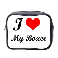 I Love My Boxer Mini Toiletries Bag (Two Sides)