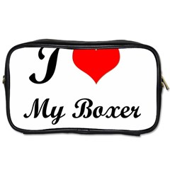 I Love My Boxer Toiletries Bag (two Sides)