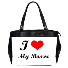 I Love My Boxer Oversize Office Handbag (Two Sides)